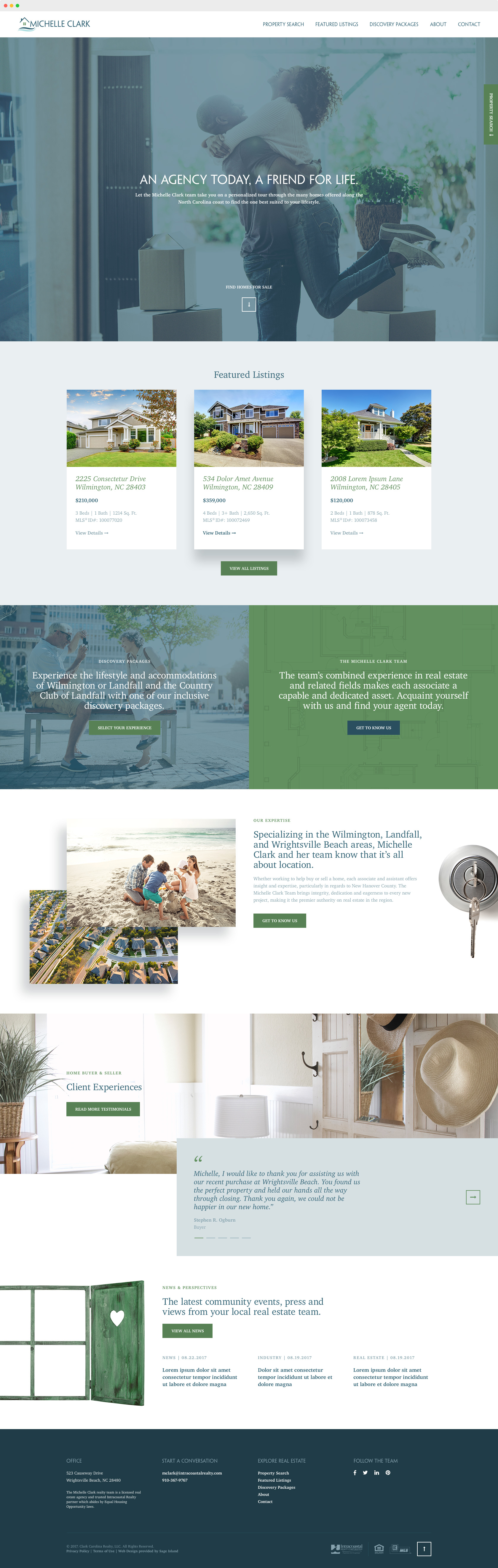 Michelle Clark Team Real Estate Agency Site Design