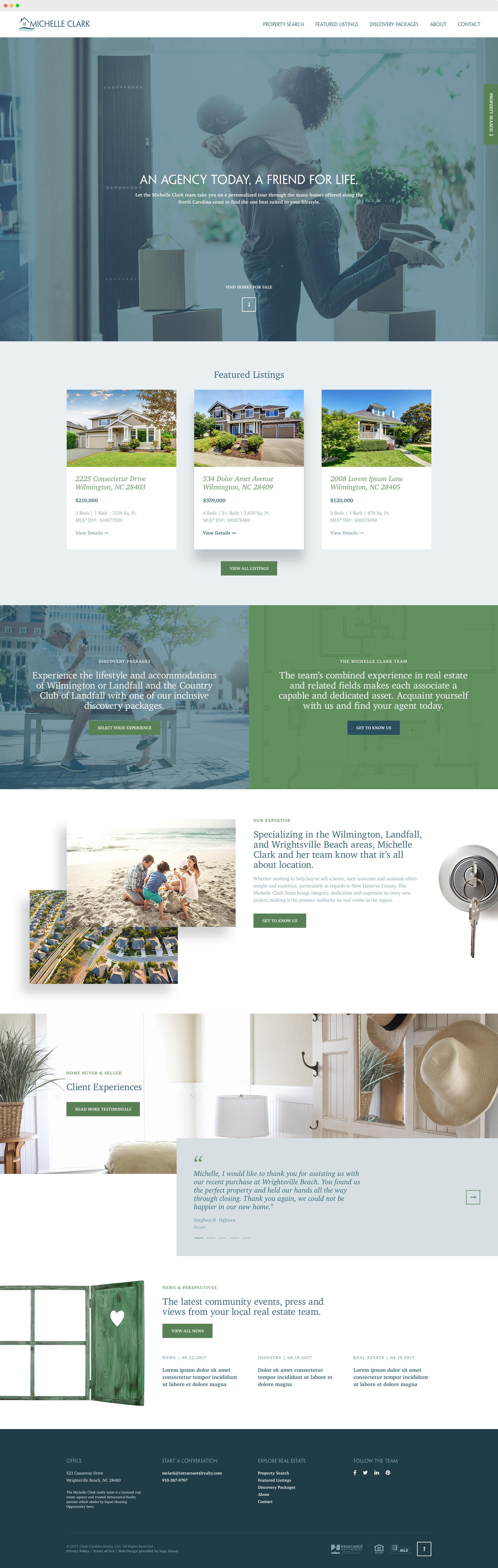 Michelle Clark Team Real Estate Agency Site Design